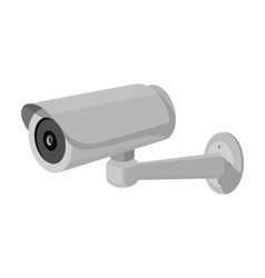Security camera icon in monochrome style isolated vector