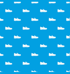 shoes pattern seamless blue vector image vector image