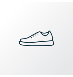 Sneakers outline symbol premium quality isolated vector