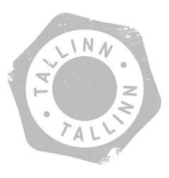 Tallinn stamp rubber grunge vector image