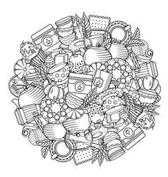 Tea circle design vector