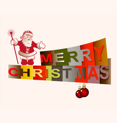 text merry christmas vector image vector image