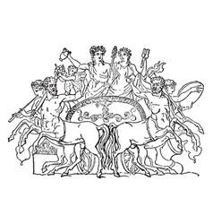 This design shows ancient centaurs vintage vector
