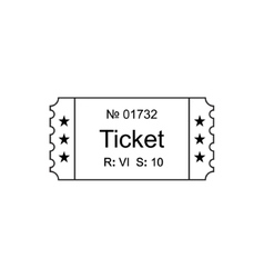 Ticket outline icon vector image vector image