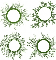 vector set of leafs frames vector image vector image