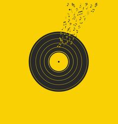 vinyl record music vector image