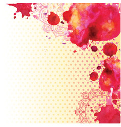 watercolor stains and mandala vector image