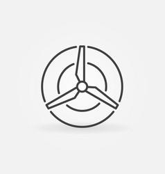 Wind energy concept icon vector