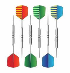 dartboard darts vector image