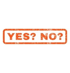 Yes question no question rubber stamp vector