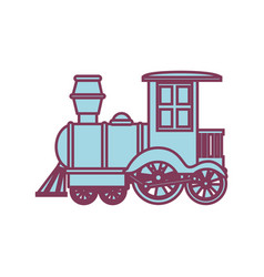 train kids toy isolated icon vector image