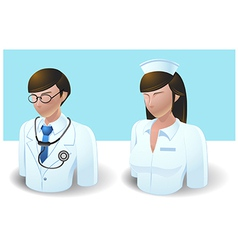 People icons doctor and nurse vector