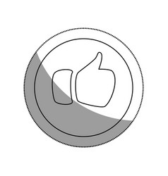 Hand like social icon vector