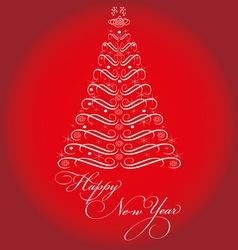 CHRISTMAS TREE resize vector image