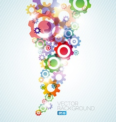 Technical background made from cogwheels vector