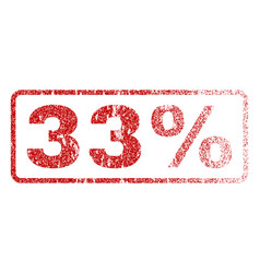 33 percent rubber stamp vector