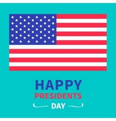 American flag presidents day background flat vector