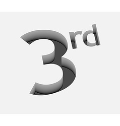 3rd number design vector