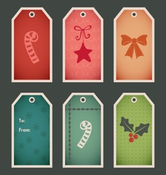 Holiday christmas gift tags vector