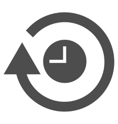 Repeat clock flat icon vector