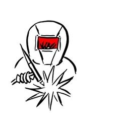 Welder sketch for your design vector image