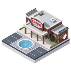 Isometric casino building vector