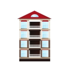 One house with red roof vector