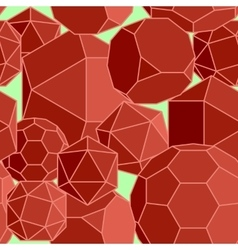Abstract seamless background of red volume vector
