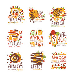 africa logo original design travel to africa vector image vector image