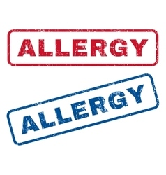 Allergy rubber stamps vector
