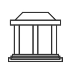 ancient greek building icon vector image