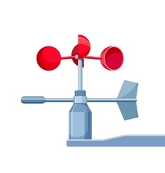 Anemometer device used for measuring wind speed vector