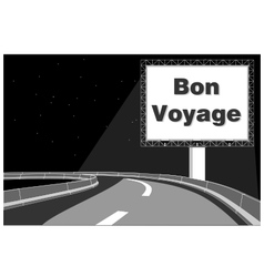 Billboard advertisement on expressway vector