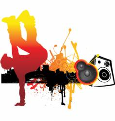 break dancing vector image