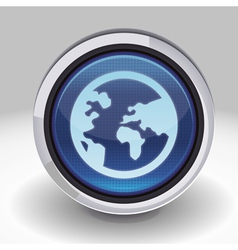 button with internet icon vector image vector image