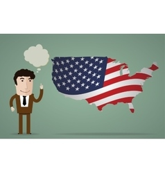 country flag and man vector image