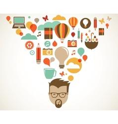 Design creative idea and innovation concept vector