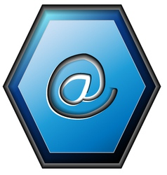 E-mail contact button vector