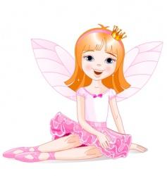 Fairy ballerina vector