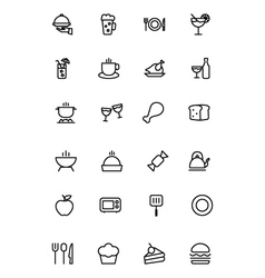 Food outline icons 1 vector