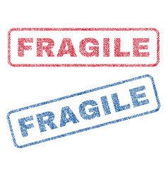 Fragile textile stamps vector