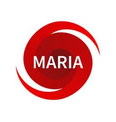 Graphic symbol of hurricane maria vector