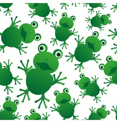 Green frog animal looks at you seamless pattern vector