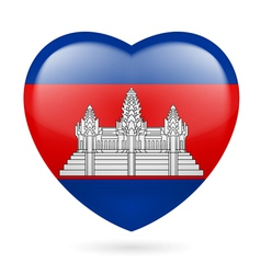 Heart icon of cambodia vector