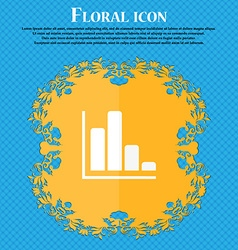 Infographic icon floral flat design on a blue vector