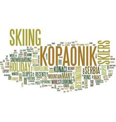 Kopaonik in serbia text background word cloud vector
