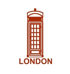London phone booth isolated on white photo vector