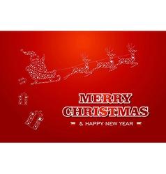 Merry Christmas and Happy New Year Santa stars vector image vector image
