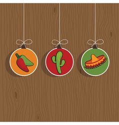 mexican decorations vector image