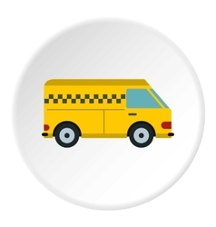 Minibus taxi icon flat style vector image